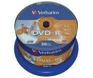 Verbatim DVD-R диски 4,7GB 16X CB/50 Full Ink printable