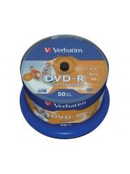 Verbatim DVD-R диски 4,7GB 16X CB/50 Full Ink printable