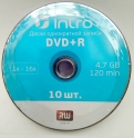 Intro DVD+R 4,7GB 16X Shrink/10