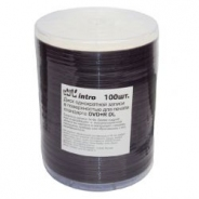 Двухслойные INTRO DVD+R DL диски 8,5GB 8X printable BULK/100